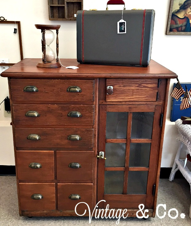 We Were Thrilled To Bring You This Amazing Antique Piece. It May Have Been  A Dental Cabinet As It Has Slots For Slide Out Trays Or Drawers Inside The  Glass ...